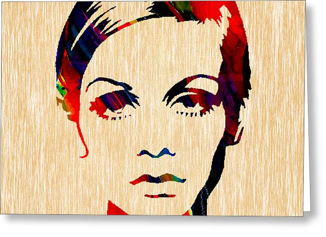 Best Sellers -  - Twiggy Greeting Cards - Twiggy Collection Greeting Card by Marvin Blaine
