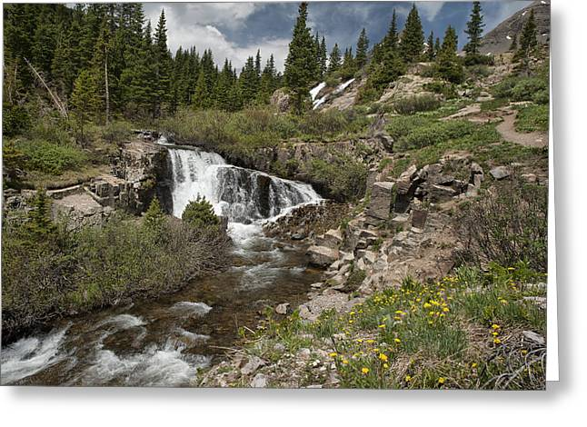 Best Sellers Greeting Cards - Twin Falls Greeting Card by Melany Sarafis