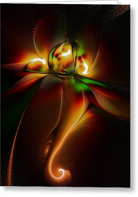 Soulmate Greeting Card featuring the digital art Twin Souls by Amanda Moore