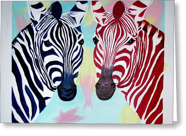 Twin Zs Greeting Card by Phyllis Kaltenbach