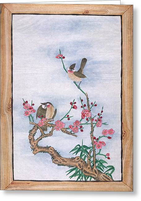 Two Birds Greeting Card by British Library