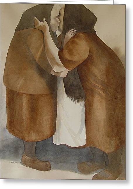 Country Framed Prints Greeting Cards - Two Old Friends Greeting Card by Sarah Buell  Dowling