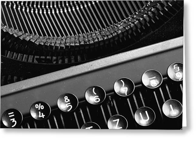 Typewriter Greeting Card by Falko Follert