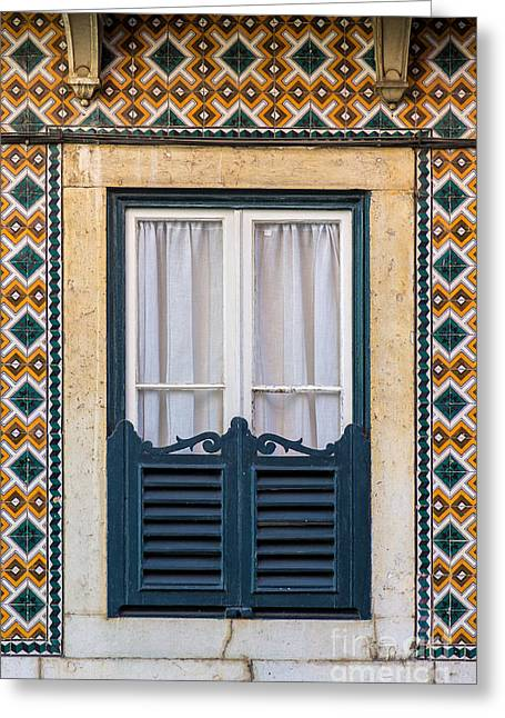 Charming Town Greeting Cards - Typical Window Greeting Card by Carlos Caetano