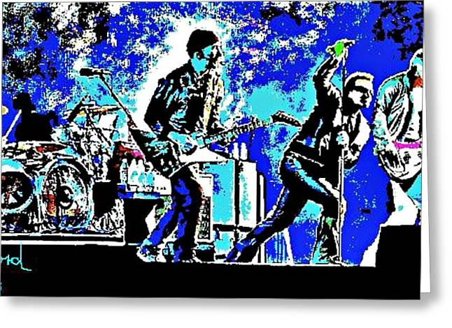U2 Paintings Greeting Cards - U2 Greeting Card by Dave Gafford