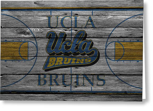 Coach Greeting Cards - Ucla Bruins Greeting Card by Joe Hamilton