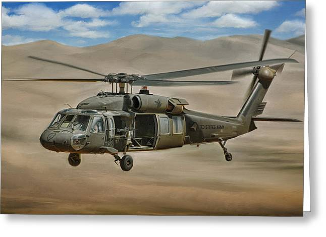 Conflict Greeting Cards - UH-60 Blackhawk Greeting Card by Dale Jackson