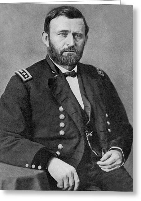 Portrait Photography Greeting Cards - Ulysses S Grant Greeting Card by American School