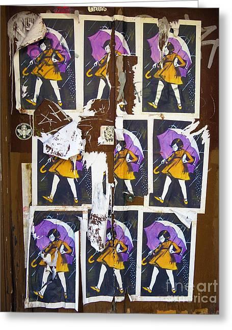Patricia Januszkiewicz Greeting Cards - Umbrella Girl Greeting Card by Patricia Januszkiewicz