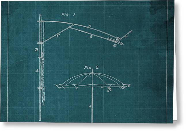 Umbrella Patent - A.B. Caldwell Greeting Card by Pablo Franchi