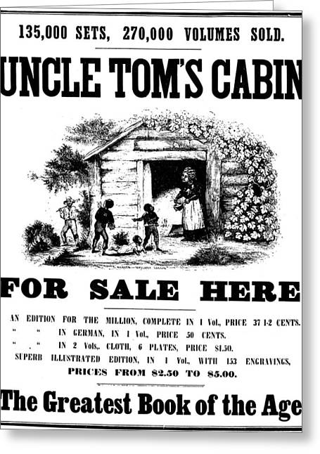 Uncle Tom's Cabin, C1860 Greeting Card by Granger