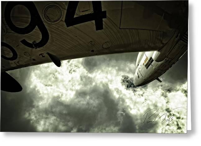 Trainer Aircraft Greeting Cards - Under my Wing Greeting Card by Paul Job