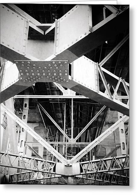 Strength Photographs Greeting Cards - Under the bridge Greeting Card by Les Cunliffe