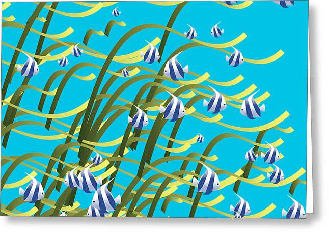 Decorative Fish Greeting Cards - Underwater life Greeting Card by Gaspar Avila