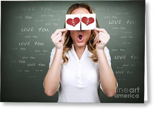 Divorce Greeting Cards - Unhappy love Greeting Card by Anna Omelchenko