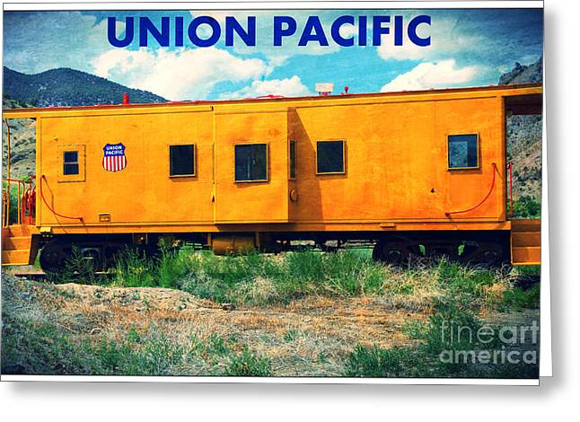Union Pacific Train Greeting Card by Sophie Vigneault