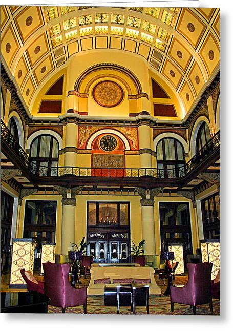 Union Station Lobby Large Size Greeting Card by Kristin Elmquist