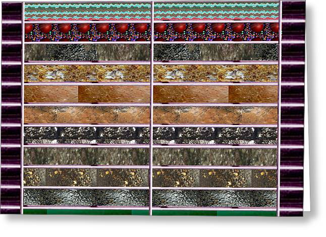 Recently Sold -  - Abstract Digital Greeting Cards - UNIQUE Abstracts using multiple RareEarth Stones Crystals Textures and Patterns Greeting Card by Navin Joshi