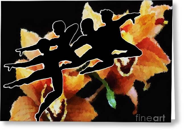 Ballet Dancers Drawings Greeting Cards - United Greeting Card by Belinda Threeths