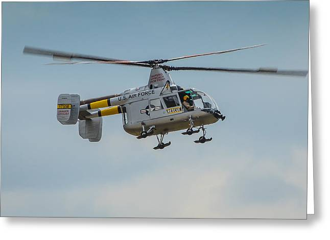 Media Exposure Greeting Cards - United States Air Force HH-43 Huskie Greeting Card by Puget  Exposure
