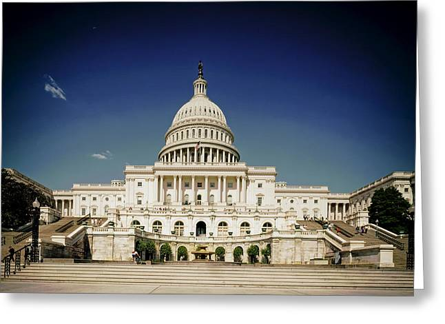 The Houses Greeting Cards - United States Capitol Building Greeting Card by Mountain Dreams