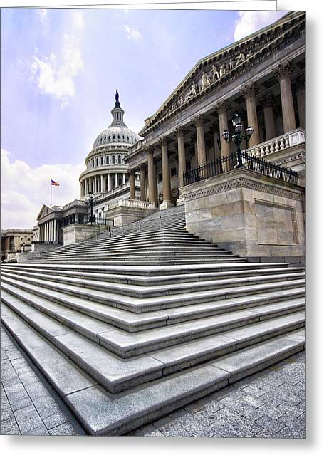 United States Capitol Greeting Cards - United States Capitol Greeting Card by Mitch Cat