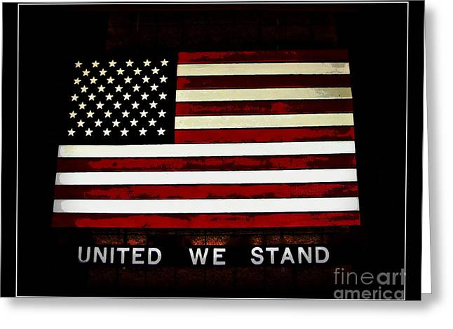 Americanism Greeting Cards - United We Stand Greeting Card by Nancy Dole McGuigan