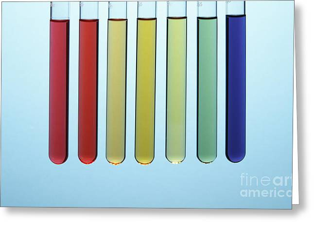Vinegar Greeting Cards - Universal Indicator, Ph Comparison Greeting Card by GIPhotoStock