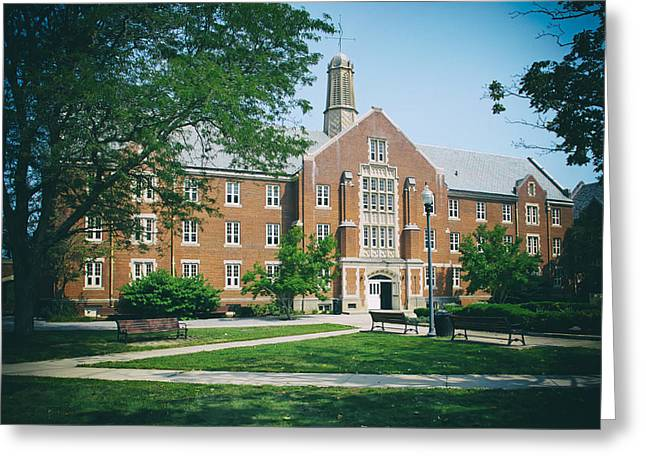 Uconn Greeting Cards - University of Connecticut Campus Greeting Card by Mountain Dreams