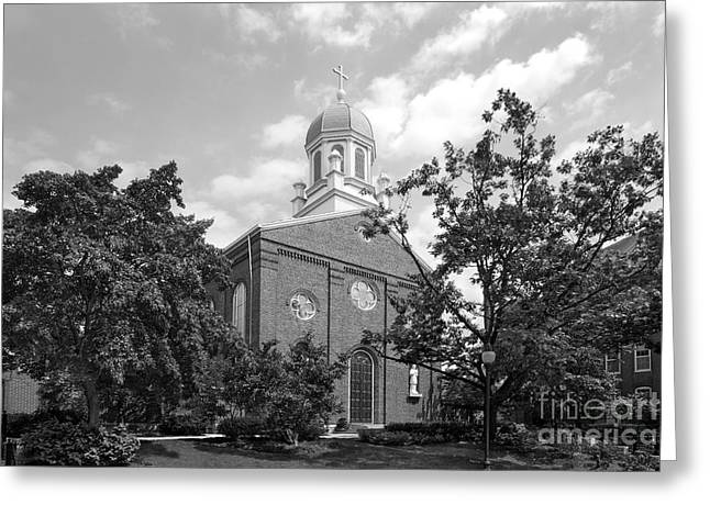 University Of Dayton Chapel Greeting Card by University Icons