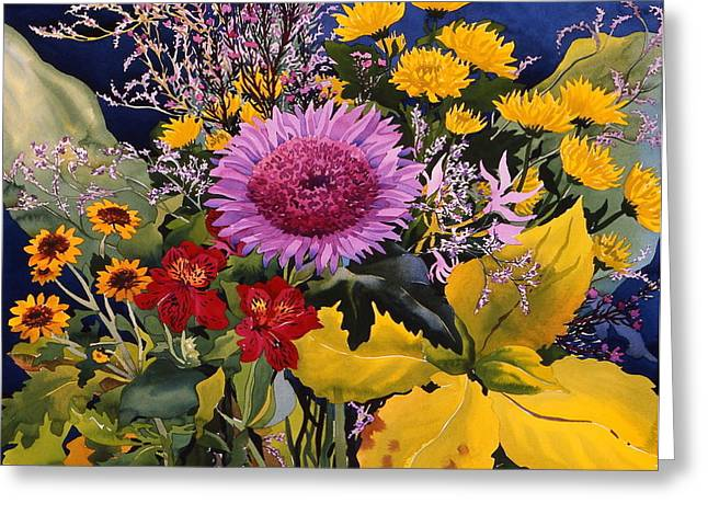 Flower Still Life Greeting Cards - Untitled Greeting Card by Christopher Ryland