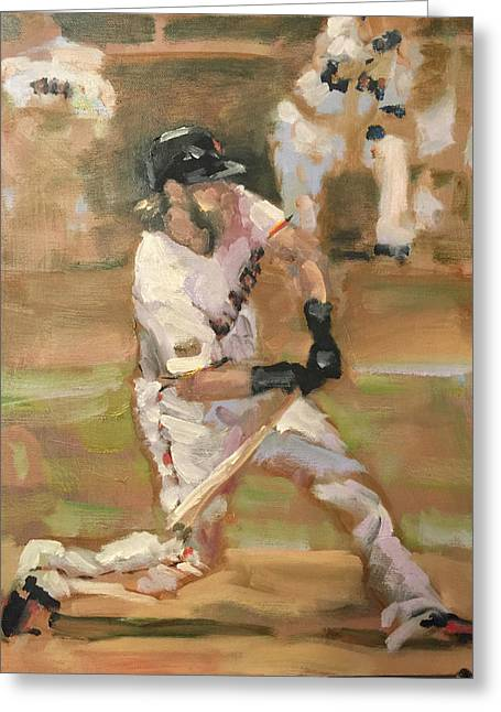 Baseball Paintings Greeting Cards - Untitled Greeting Card by Darren Kerr