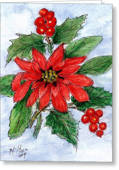 Festive Greeting Cards - Untitled Greeting Card by Nell Hill