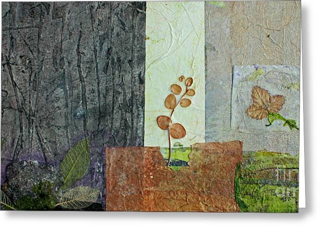 Tsunami Mixed Media Greeting Cards - Up Through the Cracks Greeting Card by Catherine Sprague