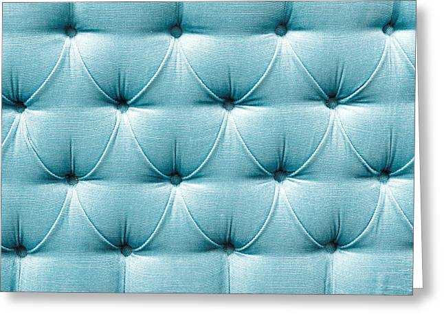 Boutique Art Greeting Cards - Upholstery background Greeting Card by Tom Gowanlock