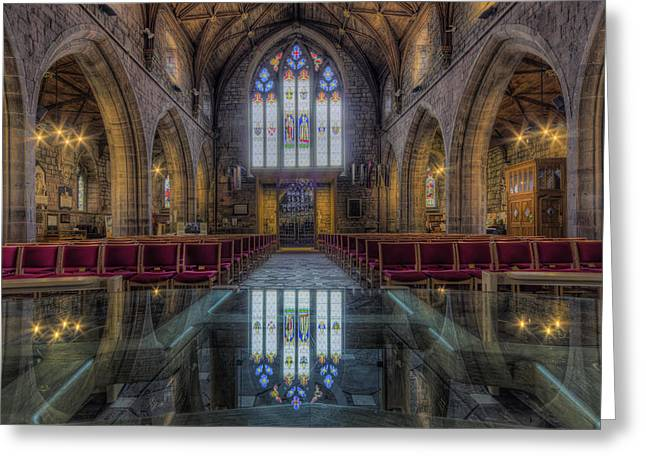 Prayer Service Greeting Cards - Upon Reflection Greeting Card by Ian Mitchell