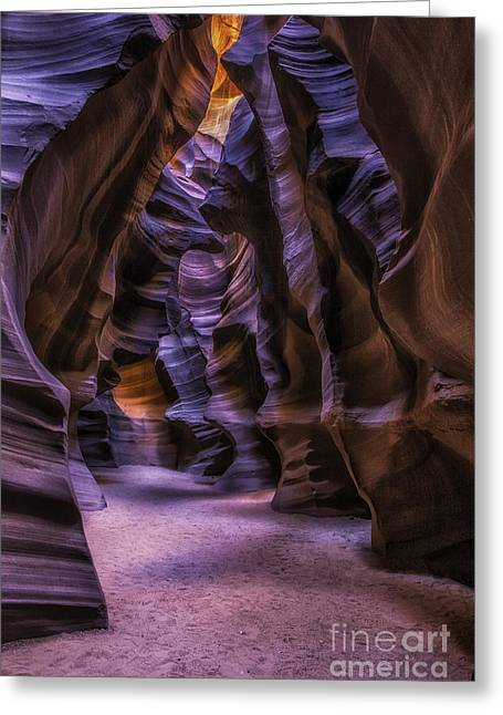 Sand Patterns Greeting Cards - Upper Antelope Slot Great Room Greeting Card by Jerry Fornarotto