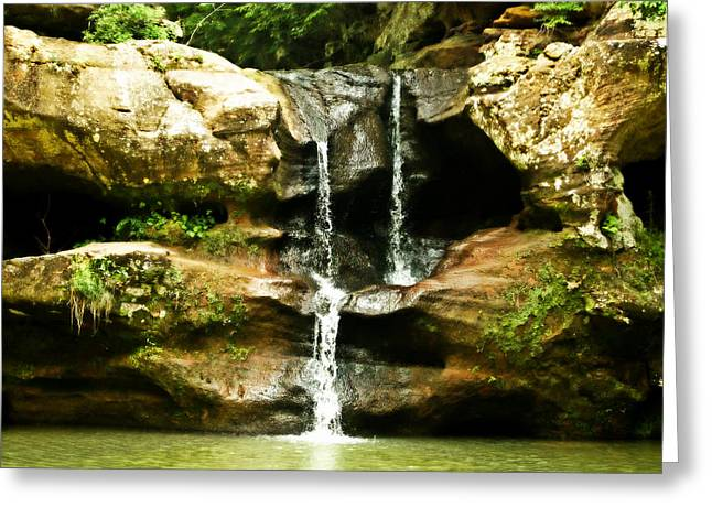 Path In Life Greeting Cards - Upper Falls Greeting Card by Dan Sproul