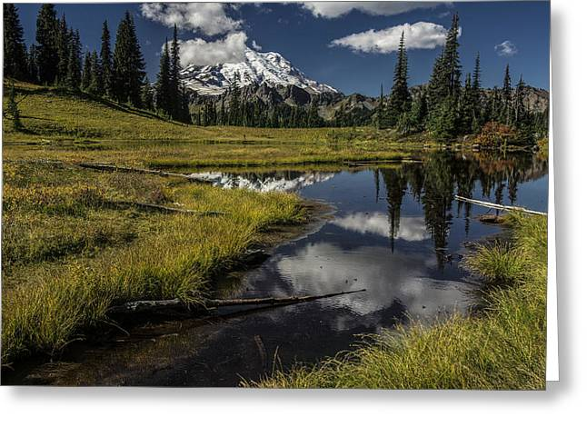 Public Issue Greeting Cards - Upper Tipsoo Lake Greeting Card by Mike Sedam