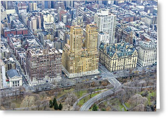 Residential Structure Greeting Cards - Upper West Side, Central Park Greeting Card by Ofir Ben Tov