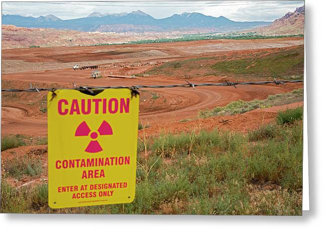 Uranium Mill Clean Up Project Greeting Card by Jim West