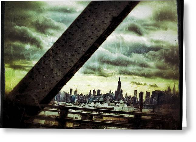 Times Square Digital Art Greeting Cards - Urban Manhattan Greeting Card by Natasha Marco
