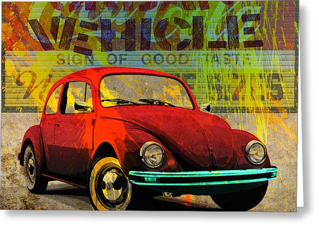 Volkswagon Greeting Cards - Urban Vehicle Greeting Card by Gary Grayson