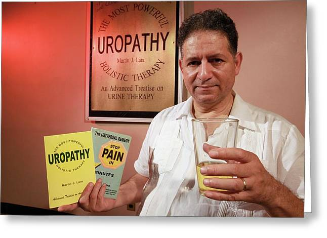Urine Therapy Clinic Greeting Card by Thierry Berrod, Mona Lisa Production