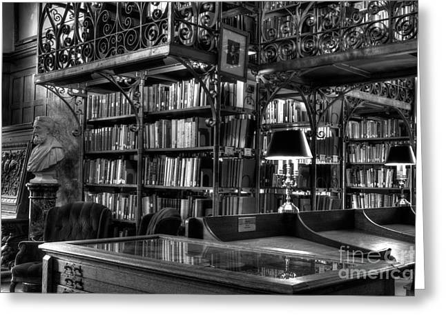 Uris Library Cornell University Greeting Card by Brad Marzolf Photography