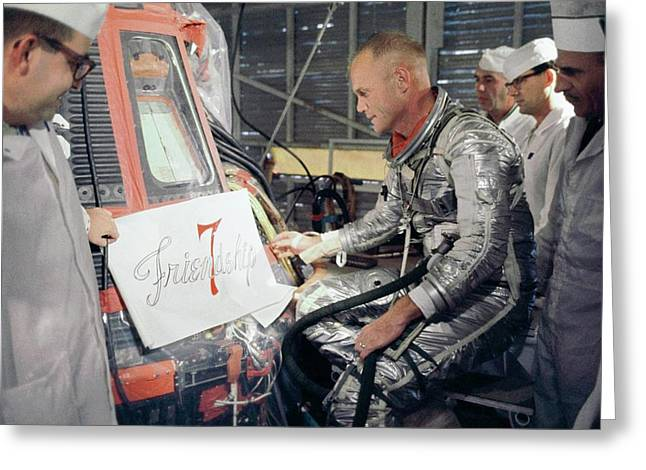 Us Astronaut John Glenn Greeting Card by Nasa