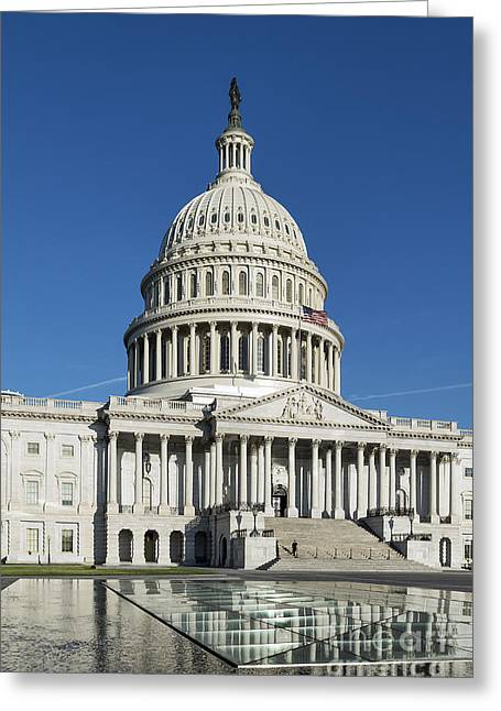 Federal Government Greeting Cards - United States Capitol Building Greeting Card by John Greim