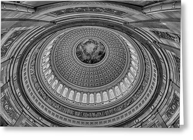 Us Capitol Greeting Cards - US Capitol Rotunda Greeting Card by Susan Candelario
