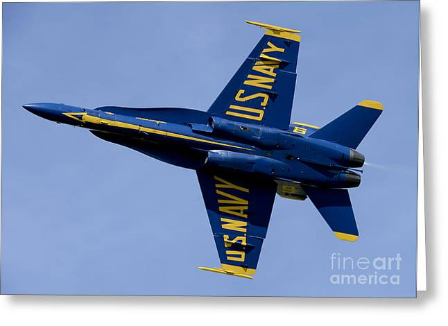 Angel Blues Greeting Cards - U.s. Navy Flight Demonstration Greeting Card by Stocktrek Images