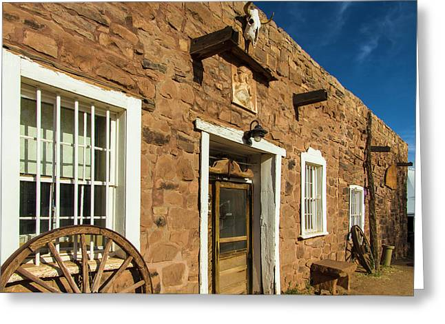 Usa, Arizona, Hubbell Trading Post Greeting Card by Jerry Ginsberg